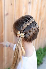 Bows In Hair Style most trendy classic prom hairstyles of long hairs ribbon braids 1984 by wearticles.com