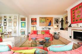 Living Room Ideas Love The Bright Corals Greens And Blues Deco Magnificent Bright Living Room Decoration