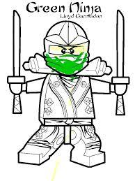 Ninjago Coloring Pages Green Ninja At Getdrawingscom Free For