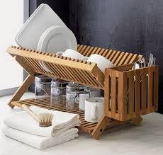 Kitchen: Wooden Kitchen Drying Rack Ideas - Dish Drying Racks