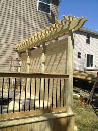 pressure treated deck with privacy wall in lancaster pa stump s decks