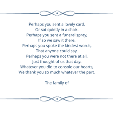 Funeral Words For Cards Fascinating Amazon Personalized Funeral Thank You Cards And Envelopes Set