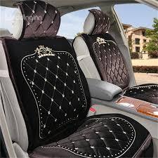 41 royal series luxurious design classic diamond patterns furry universal car seat covers