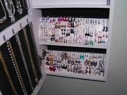 Wall Jewelry Organizer Wall Mounted Jewelry Organizer Inspired Ideas Wall Mounted