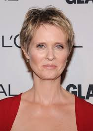 cynthia nixon layered short pixie cut short hairstyles for older women over 50