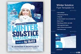 Winter Flyer Template Winter Solstice Flyer Template V24 By Lou24 GraphicRiver 16