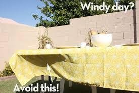 diy outdoor table outdoor tablecloth
