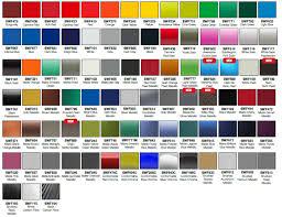Vinyl Wrap Color Chart Avery Graphics Vinyl Color Chart 2019