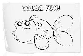 13825818 Colour worksheet of a fish Stock Vector cartoon fish beach fish worksheet termolak on balancing of chemical equations worksheet