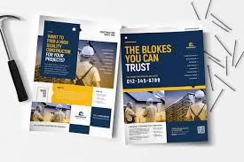 Construction Poster Flyer Templates Ad Affiliate
