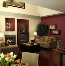 wooden coffee tables. Impressive Burgundy Living Room Color Schemes With Wooden Coffee Table And Beige Sofa Set Using Modern Fireplace Design Tables