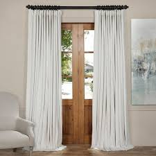 white curtain panels. Exclusive Fabrics Off White Velvet Blackout Extra Wide Curtain Panel Panels