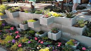 impressive cinder blocks ideas for the garden interior designs