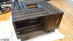 wood crate furniture diy. Diy Furniture Crate Coffee Table A Trail Life DIY Plastic Wood T
