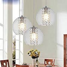 Pendelleuchtenbeleuchtung Für Die Küche Moderne Pendelleuchten Amazon Modernes Glas Kugel Kristall Deckenleuchte Küche Bar Pendelleuchte Beleuchtung Klare3 Lichter Mit Langen