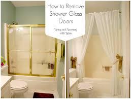 removing sliding glass doors bathtub
