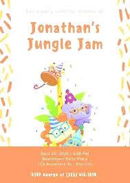 Jungle Theme Birthday Invitation Template Arianet Co