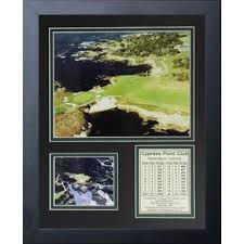 cypress point golf course framed memorabilia on golf club wall art with golf course wall art wayfair