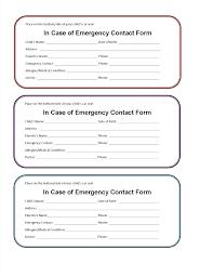 Parent Contact Form Template
