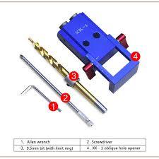 Woodworking Pocket Hole Jig Angle Drill Guide Set Hole