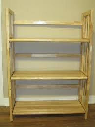 wooden 3 shelfs folding bookcase design