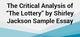 "the lottery"" by shirley jackson sample essay net blog analysis of ""the lottery"" by shirley jackson sample essay"