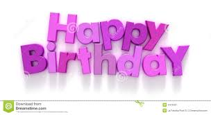 Happy Birthday In Pink And Purple Letters Stock Image Image Of