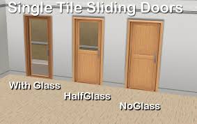 i received an inquiry about a single tile door so i modified the ea s double sliding door when i was at it i also made a version with half glass and