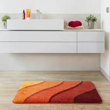 Grund Badteppich Duna Orange Grau Badematte Badvorleger Teppich