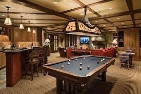 gameroom lighting. country game room with bar stools skirted moose pool table light undercabinet lighting gameroom