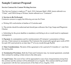 Contractor Proposal Template Contract Proposal Template