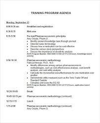 Agenda Format Sample Free 9 Program Agenda Examples Samples In Pdf Examples
