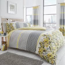 cover bedding set saphira yellow grey