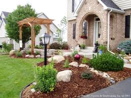 ... Large-size of Comfortable Large Size Small Front Yard Landscaping Ideas  Townhouse Landscape Yet Townhouse ...