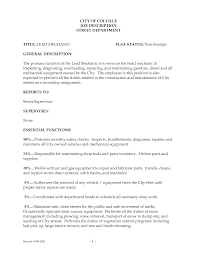 Resume Diesel Mechanic Free Resume Example And Writing Download
