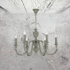 6 light grey chandelier