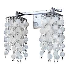 glow lighting cityscape capiz shell and crystal chrome two light wall sconce
