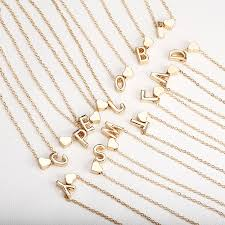tiny gold initial necklace gold letter necklace initials name necklaces personalized pendant for women girls best birthday gift