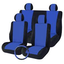 t16795 9pcs universal mesh fabrics car seat cover set four seasons auto cushion interior accessories