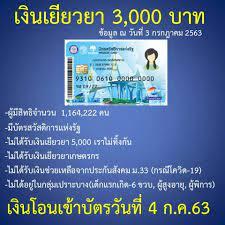 วิธีเช็คสิทธิ์รับเงินเยียวยา 3,000 บาท สำหรับผู้ถือบัตรคนจน -  MoneyGuru.co.th