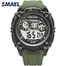 Online Shop Men <b>Watches</b> 50m <b>Waterproof SMAEL</b> Top Brand LED ...