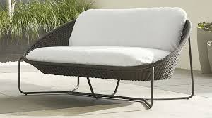 crate outdoor furniture. Catchy Patio Furniture Loveseat Morocco Charcoal Oval With Cushion  Crate And Barrel Crate Outdoor Furniture