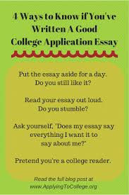 ways to know if you ve written a good college application essay  2015 common application essay length learn about the proper length for your college essays including why you should never go over the word limit in the
