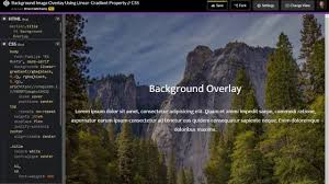 Background Overlay Using Linear Gradient Property Live Coding