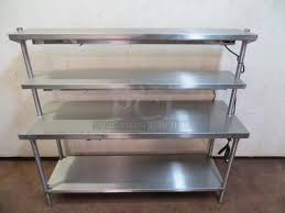 11 stainless steel 3 tier warming station utility table tested working