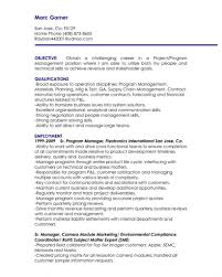Category Resume 271 Chelshartman Me Project Manager Objective