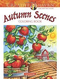 creative haven autumn scenes coloring book coloring