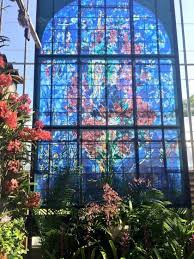 2017 famous works of famed jewish artist marc chagall are on display at the marie selby botanical gardens on the bay front in sarasota florida