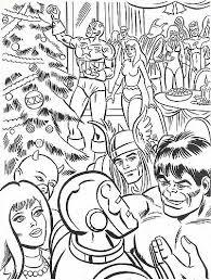 Superhero Coloring Pages For Christmas Fun For Christmas Halloween