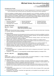 Consultant Cv Recruitment Consultant Cv Example Land A Top Recruitment Job